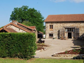 Converted stone barn with heated swimming pool, sleeps 12, 4 bedrooms