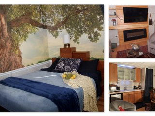 Country Comfort- TREE TOP Nature Retreat -2 Bed, H.Tub/Outdoor Shower- BEACH 19M