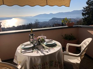 Matisse with lake view, terrace and pool in Verbania Arizzano
