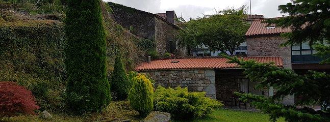 Barbacoa y porche exterior