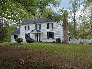 Pet friendly family farmhouse on 28 private acres.