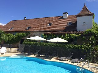 Traditional stone farmhouse with heated pool