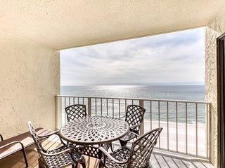 Stunning beachfront condo w/ beach access, shared pool, & private balcony!