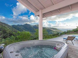 DOMAINE DE MAPOU - Chalet - Bungalow Jacuzzi + Piscine et vue Mer des Caraïbes
