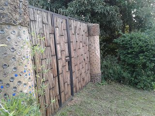 Plastic Bottles Huts interlocking Bricks house