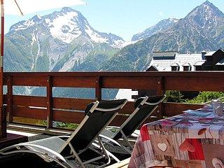 Appartement Deux Alpes au Pied des Pistes avec Terrasse et internet