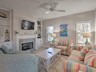 NEW! Updated Townhome w/Pool Access, Walk to Beach