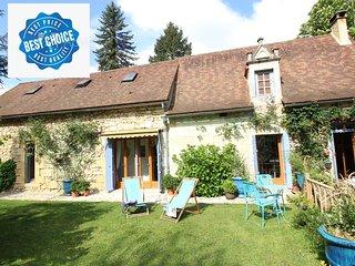 maison de charme au bord de rivière Dordogne à 15 kms de Bergerac