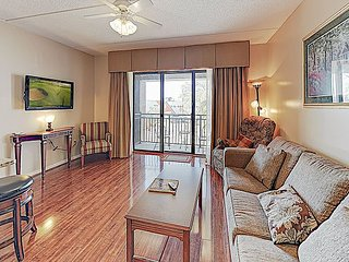 Double-Unit Condo with River Views, Walkable Locale & Free Parking