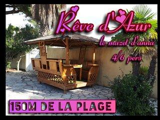 Reve d'Azur Le Mazet d'Anna a 150m de la plage