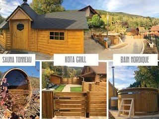 EXPERIENCE NORDIQUE  Kota-Grill,Sauna, Bain nordique