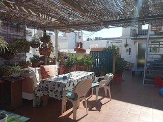 HABITACION EN LA AZOTEA- doubled bedroom in a gardened rooftop
