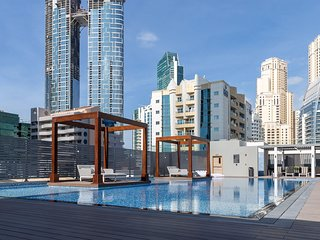 Modern Arabian Themed 1BR Apartment in Dubai Marina