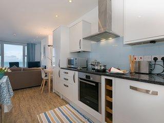 SeaCrest 1 - Contemporary Apartment Views over Porthmeor Beach Sleeps 6 Parking