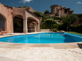 Villa with pool by the sea on the 'Emerald coast' Porto Cervo.