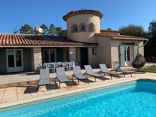 TOPPER! - Villa Terre d'Azur: for 10 pers with heated private pool