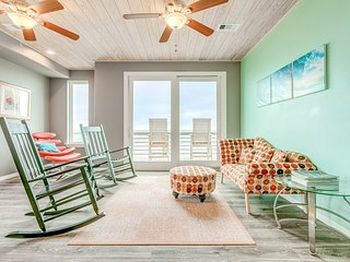 Beautiful home w/three balconies, fireplace & great views-steps from the beach!