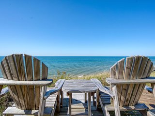 NEW! Waterfront Lake Michigan Home w/Hot Tub Deck!