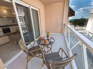 Lovely apartment with balcon close to the beach