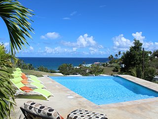 Aqua Blue is a private villa with a fabulous pool and views.