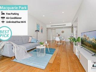 WALK to Macquarie Uni 1Bed APT+Free Parking NMC006