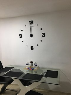 The clock in the kitchen