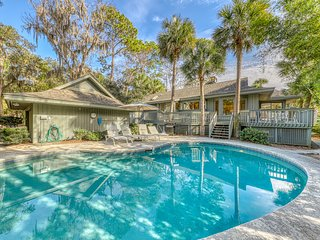 Dog-friendly home w/ a private pool in Sea Pines - close to the beach!