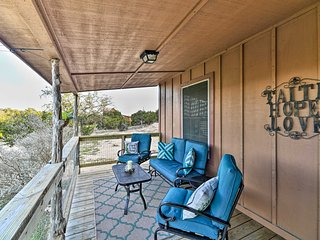 NEW! Peaceful Hill Country Retreat w/ Front Porch