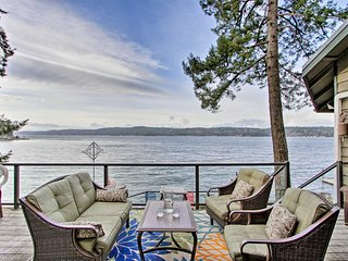 NEW! Waterfront Puget Sound Home w/ Hot Tub & Dock