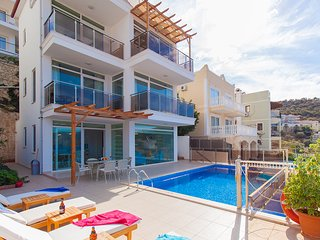 5 Minutes From Sea Villa Kalkan Sezen 4 Bedroom Private Pool Villa With Seaview