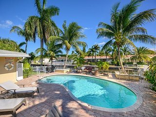 Gorgeous Canal Home w/ Heated Private Pool and Dock - Near Beach