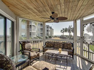 Breathtaking ocean view villa w/ screen porch, community pool - steps to beach