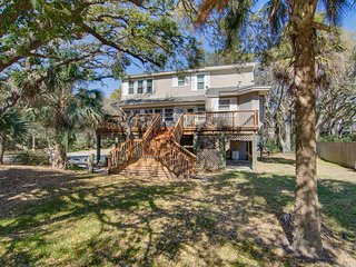 Charming home with large yard and deck - across the street from beach access!