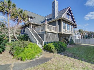 Quiet Sea Oats home steps from the beach w/ community pool!