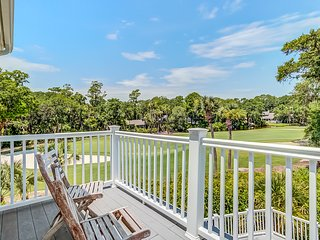 Spacious home on Ocean Winds' 6th Green with a screened porch and private pool!