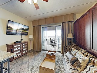 New Listing! 9th-Floor Riverfront Condo w/ Balcony & Water Views