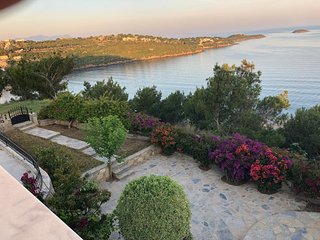 Bodrum Firstline Beachfront Villa with amazing view of the Aegean sea/Islands