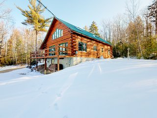 Cozy & modern log cabin w/ free WiFi, wood-burning fireplace, & mountain views