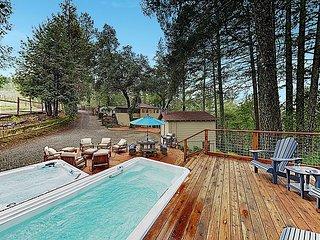 Luxe Vineyard-View Hideaway w/ Swim Spa & Hot Tub!