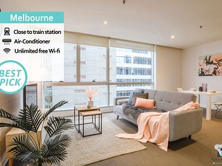 'Mid-Long Term Available Inquire'  Melbourne CBD 1BED APT | Central & State