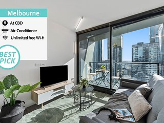 'Mid-Long Term Available Inquire' Melbourne City Kozy 1 Bed Modern Apt VME031