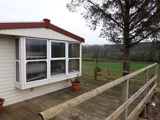 Private Mobile Home on Dairy Farm near River Axe. Own entrance and parking