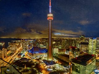 ICE Condo 2 bedrooms suite with balcony, unobstructed CN Tower and lake views