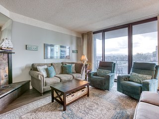 Dog-friendly retreat w/ balcony & partial ocean view - steps from the beach!