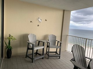 New Balcony Furniture.  Keep an eye out for dolphins!