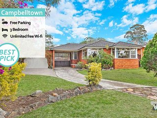 Your Holiday Home Campbelltown 3 BED+ Free Parking