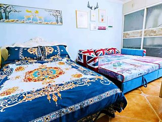 Relaxer Bright Clean Room & 2 Large Beds Downtown Near Forbidden city / Metro