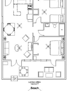 Apartment floor plan.