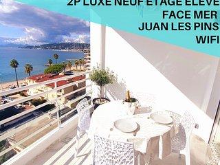 2P Luxe Neuf,Dernier étage,Front de mer Juan Les Pins,Wifi