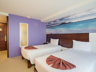 B ❀ Buriヅresort Charming Twin bed room explorer shopping mall,beach,night live ❀